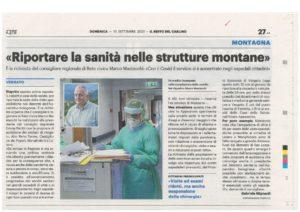 Read more about the article Mastacchi: riportare la sanità nelle strutture montane
