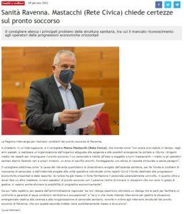 Read more about the article La Regione intervenga per risolvere i problemi del pronto soccorso di Ravenna