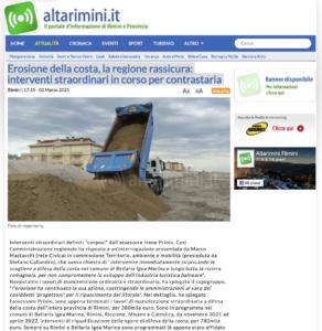 Read more about the article Bellaria – Igea Marina: la Regione ha risposto a un'interrogazione di Marco Mastacchi (Rete Civica) in commissione Territorio