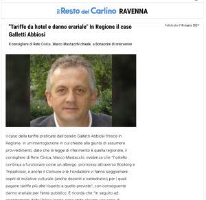 Read more about the article Il caso delle tariffe praticate dall'ostello Galletti Abbiosi finisce in Regione