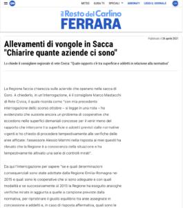 """Read more about the article Allevamenti di vongole in Sacca """"Chiarire quante aziende ci sono"""""""