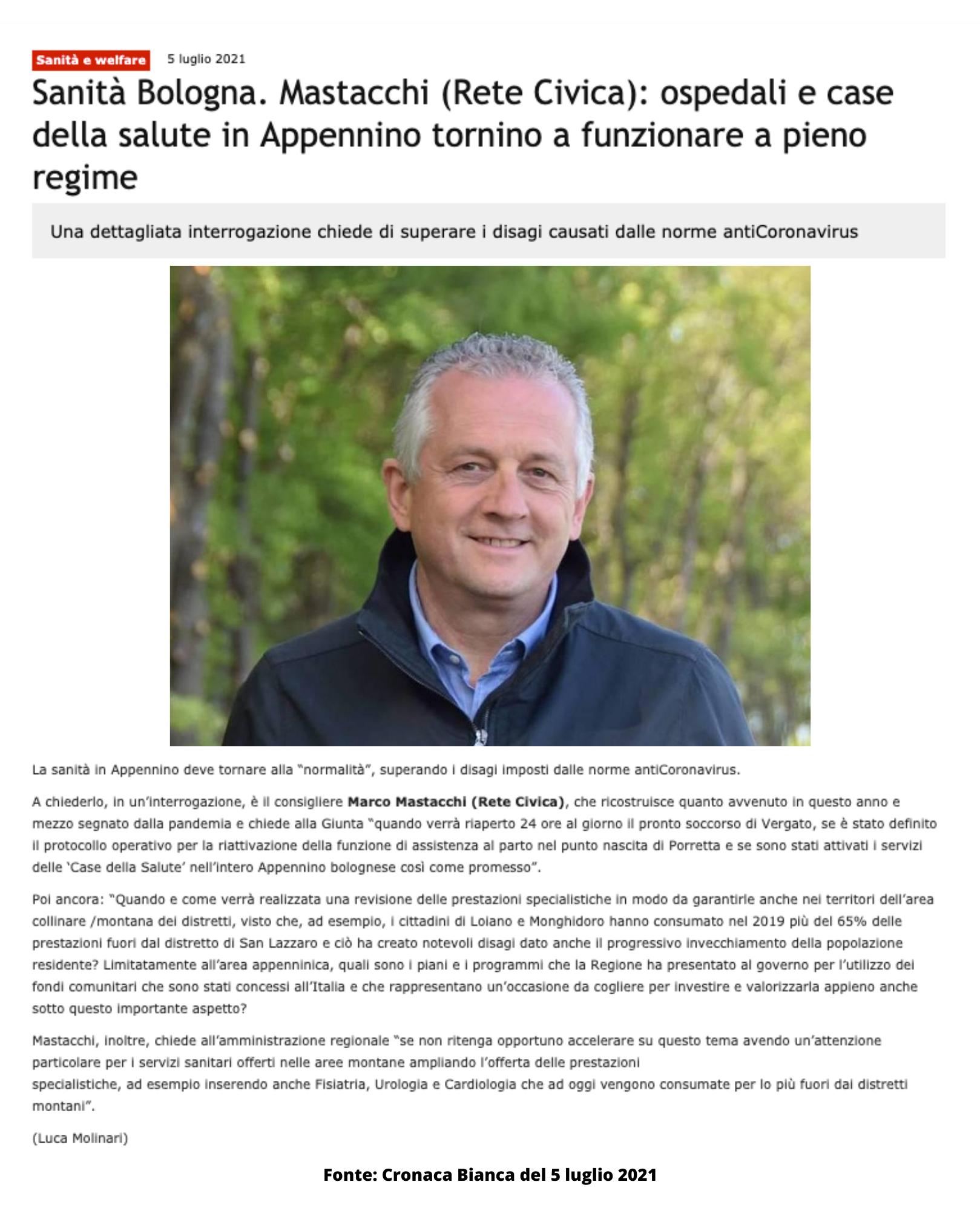 Sanità in Appennino - Mastacchi